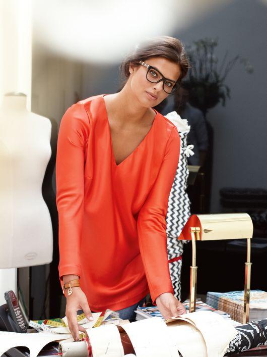 Блуза А-силуету з довгими рукавами
