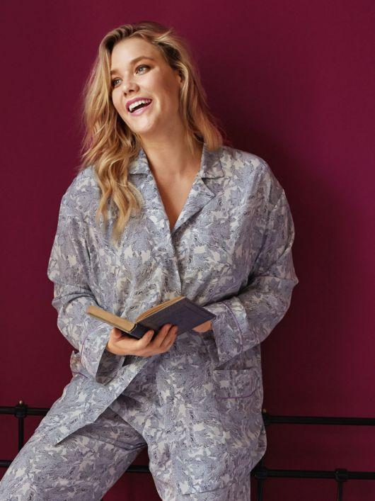 Блуза піжамна сорочкового крою
