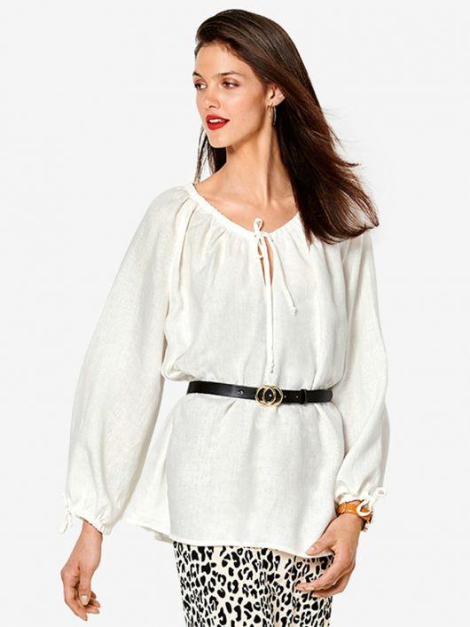 Блуза широкого крою з рукавами реглан