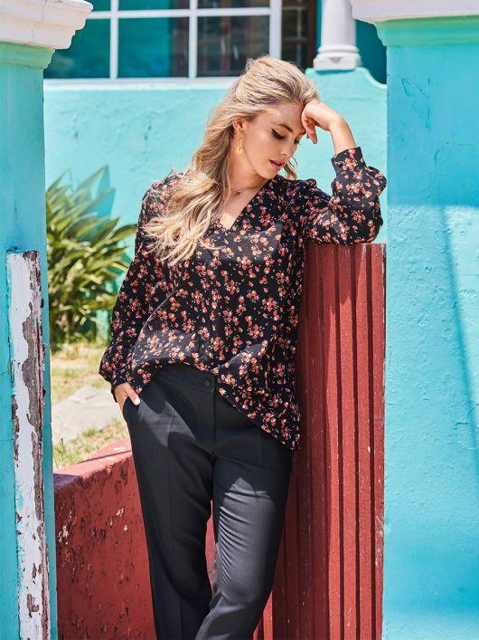 Блуза шовкова А-силуету