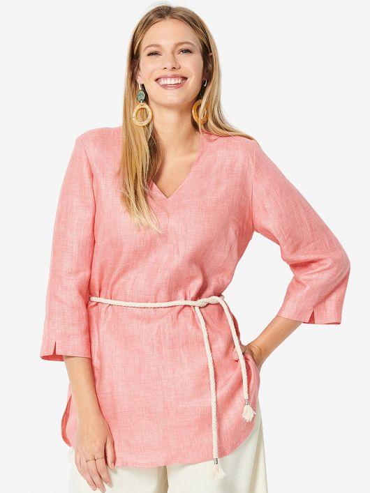 Блуза сорочкового крою із застібкою на спинці