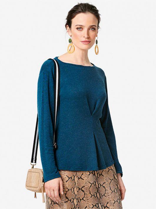 Пуловер прямого крою з в'язаного полотна