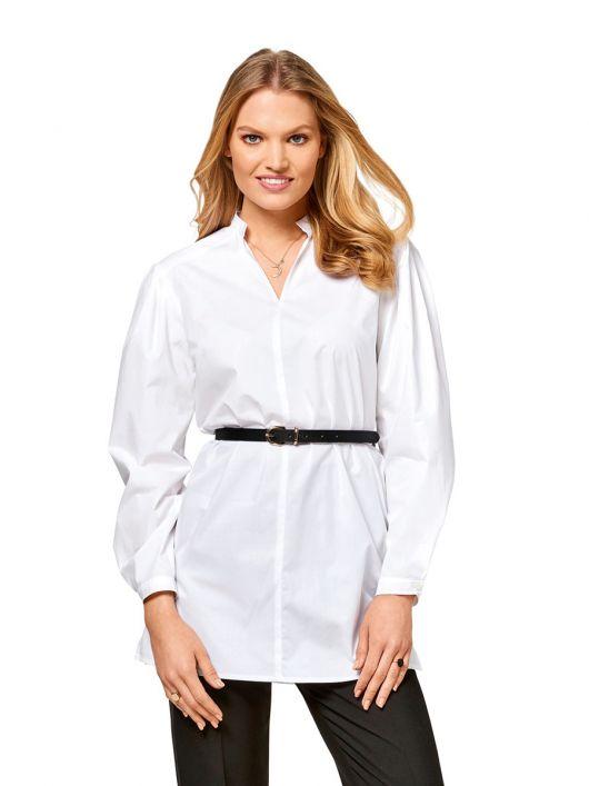 Блуза-сорочка зі складками на рукавах