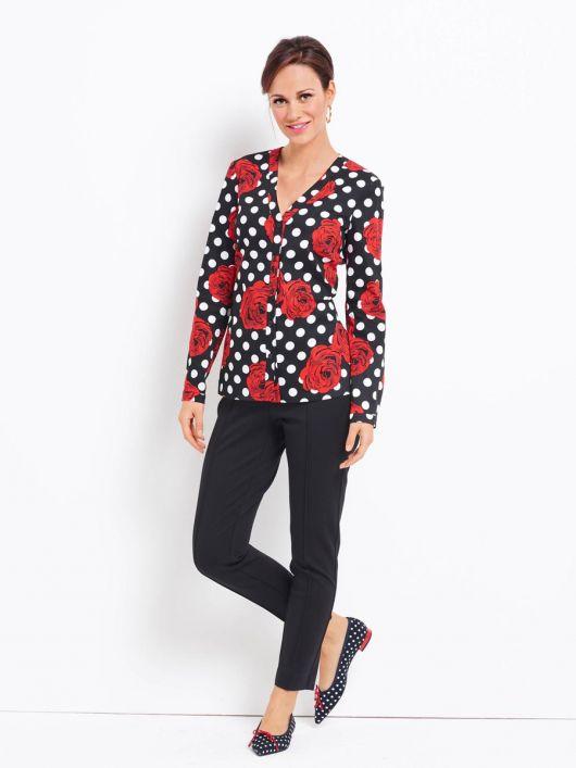 Блузка-сорочка приталеного силуету без коміра