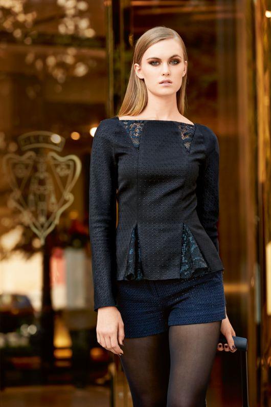 Блузка приталеного силуету