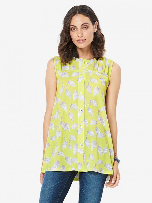 Блуза-туніка А-силуету на кокетці