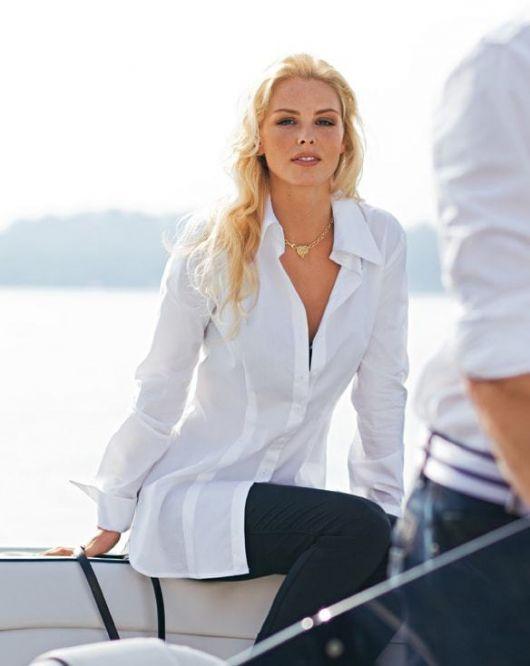 Блуза-сорочка видовженого силуету