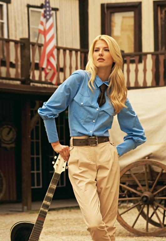 Блуза-сорочка з відлітними кокетками