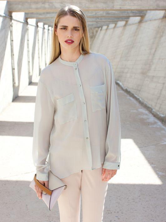 Блуза-сорочка з видовженою спинкою