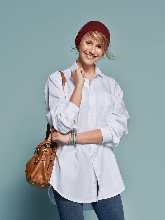 Блуза у стилі сорочка бой-френда
