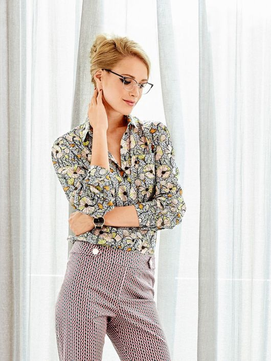 Блузка-сорочка прямого крою