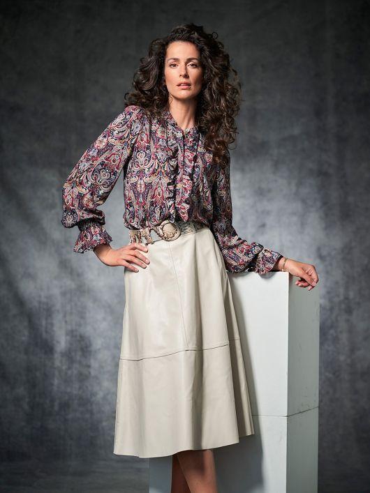 Блузка с оборками в стиле 70-х