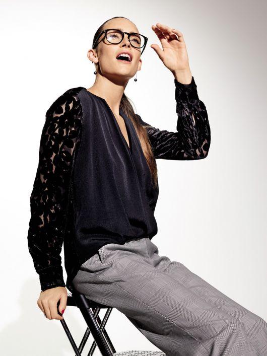 Блуза з асиметричним низом і драпіровками
