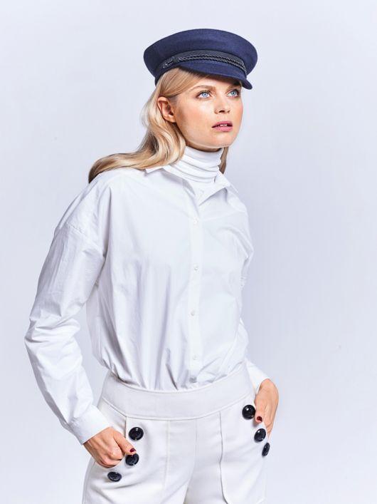 Блузка-сорочка із заниженими проймами
