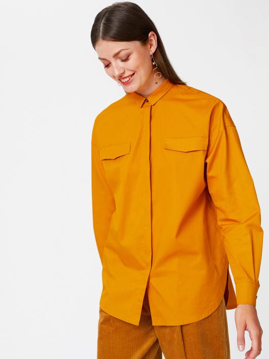 Блуза просторого крою із потайною застібкою
