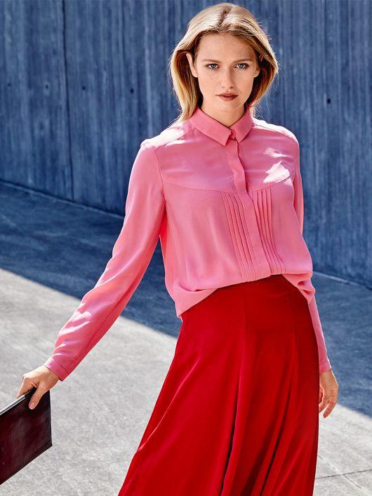 Блузка сорочка з потайною застібкою
