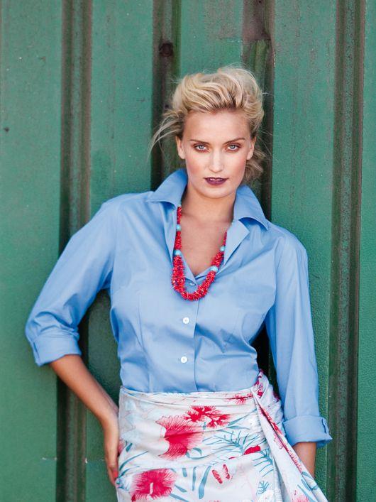Блуза сорочкового крою з рукавами реглан