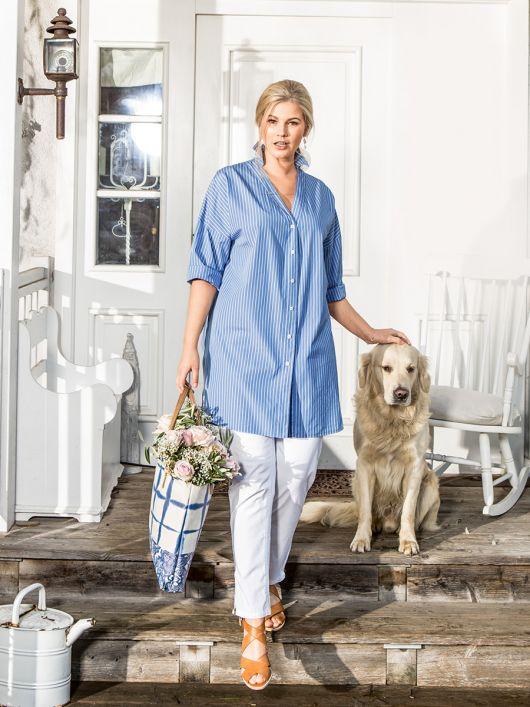 Блуза-сорочка широкого крою