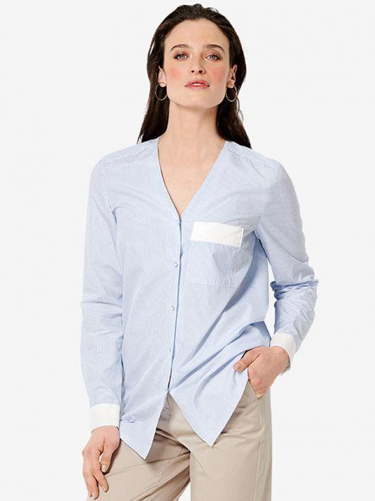 Блузка-сорочка без коміра