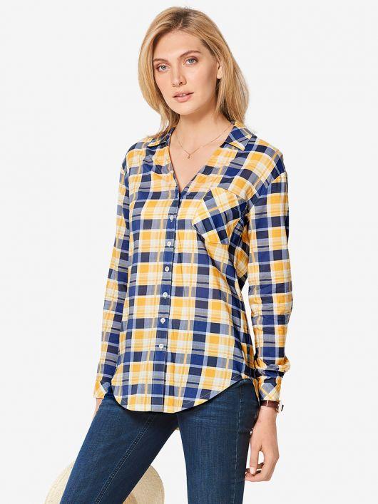 Блузка-сорочка приталеного силуету
