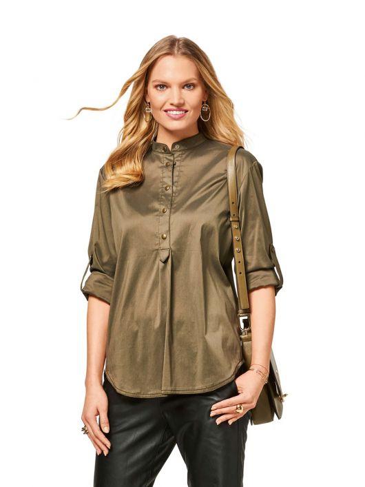 Блуза із видовженою застібкою поло
