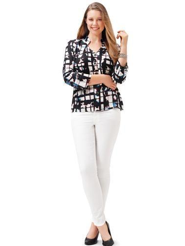 Блуза-сорочка з рукавами реглан-погон