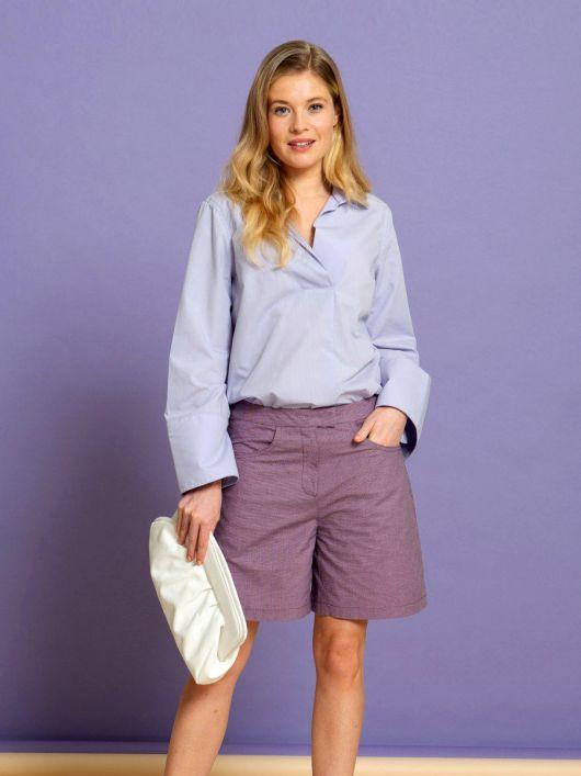 Блуза-сорочка прямого крою з широкими рукавами