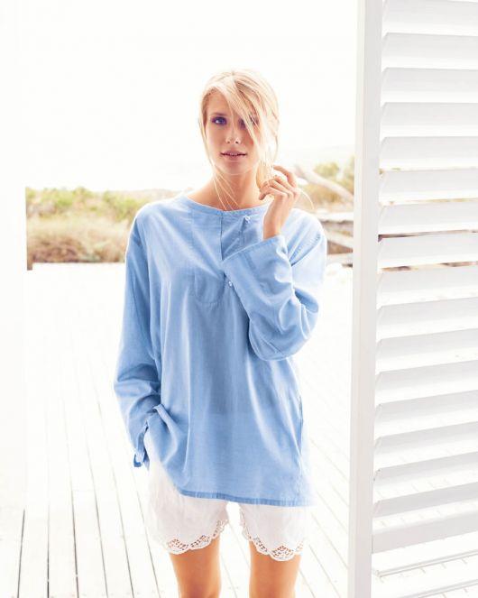 Блуза прямого силуету