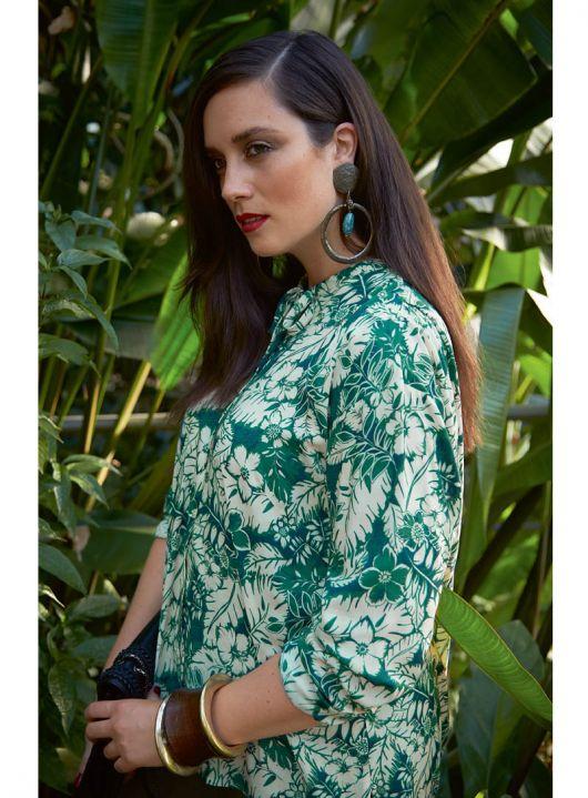 Блузка з видовженою спинкою