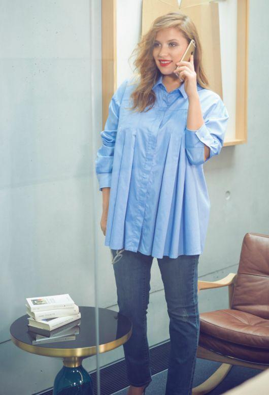 Блуза-сорочка зі складками