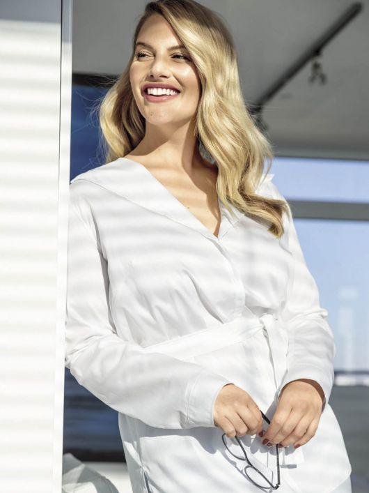 Блузка-сорочка з видовженою спинкою