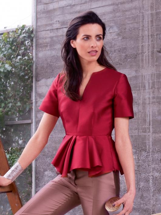 Блуза з баскою різної довжини