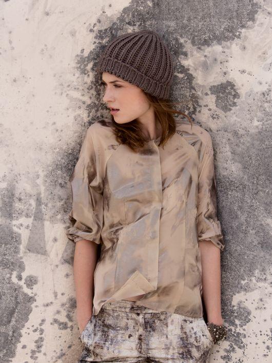 Блуза з рукавами реглан довжиною 3/4
