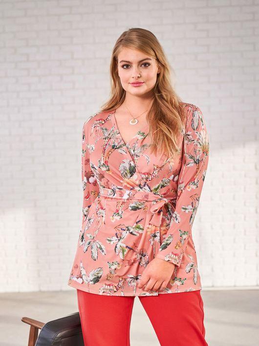 Блуза трикотажна з ефектом запаху