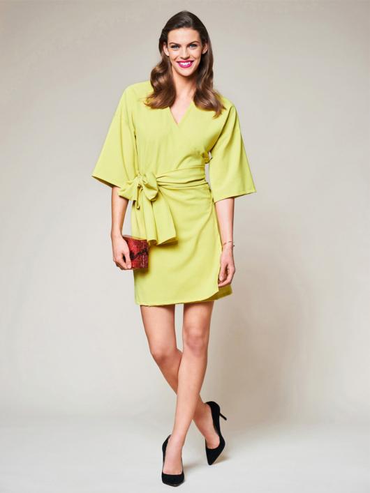 Викрійка Сукня міні з запахом і широким поясом  купити викрійки ... 2da135b993101