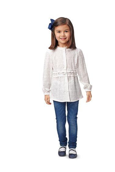 Блузка-сорочка приталеного силуету з коміром-стойкою