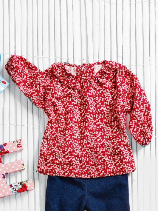 Блузка із застібкою на спинці