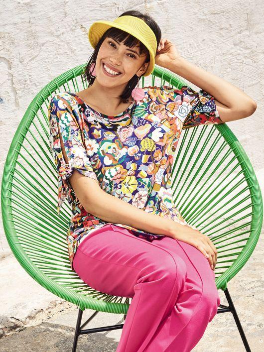 Блуза трикотажна з рукавами реглан