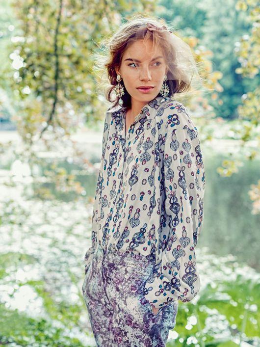 Блуза сорочкового крою