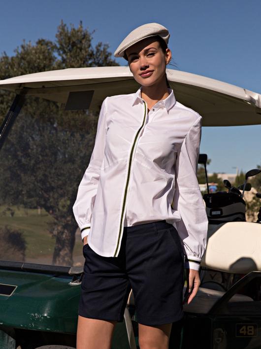 Блузка-сорочка з потайною застібкою