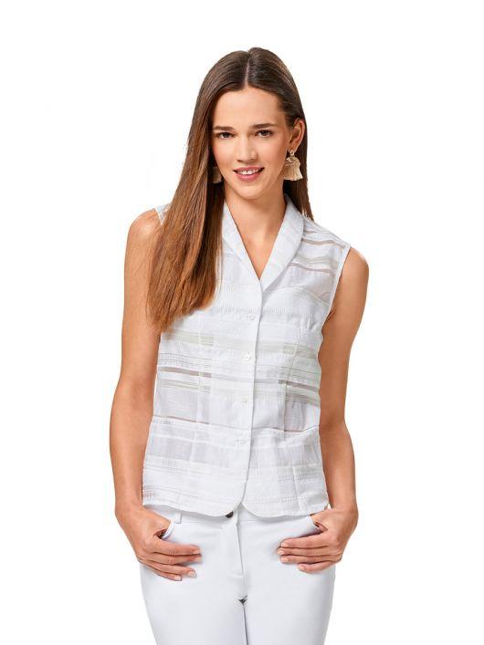 Блузка-жилет із шалевим коміром