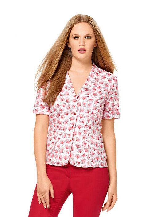 Блузка-жакет з короткими рукавами