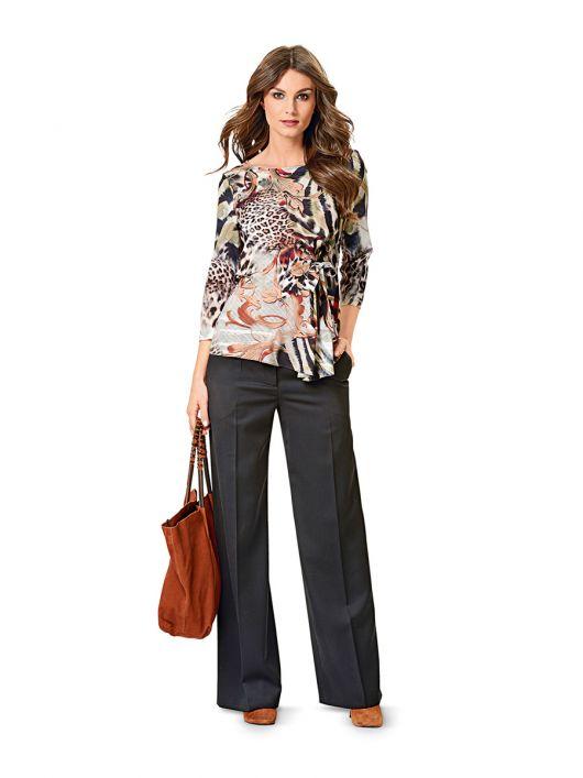 Блузка приталеного силуету з драпіровкою