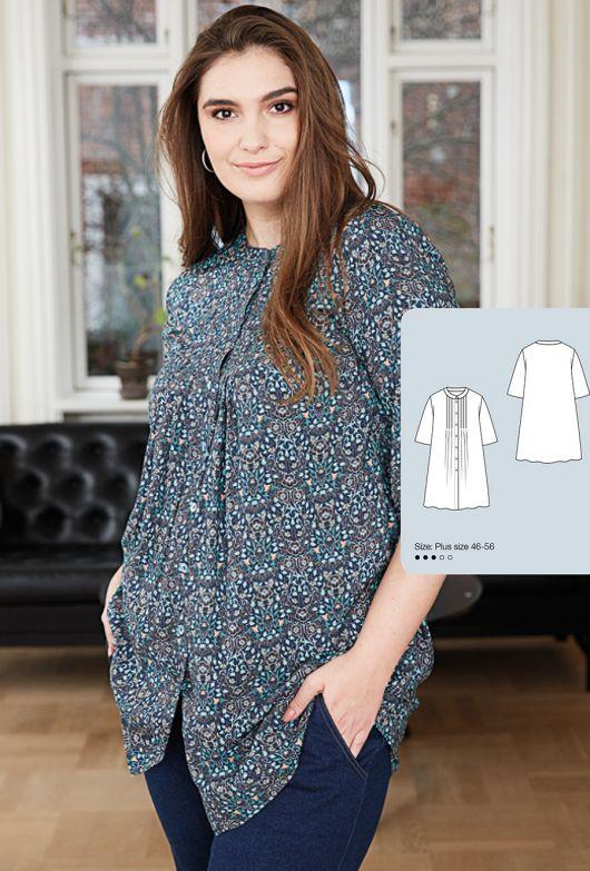 Блуза-сорочка з декоративними складками