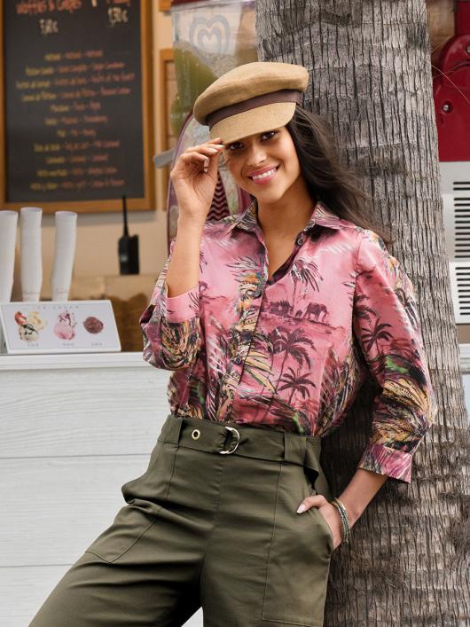 Блуза-сорочка в гавайському стилі