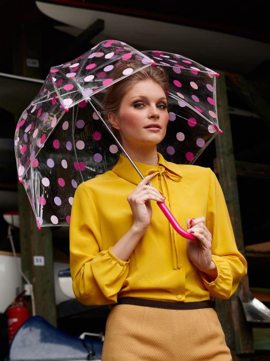 Блуза-сорочка з асиметричною застібкою