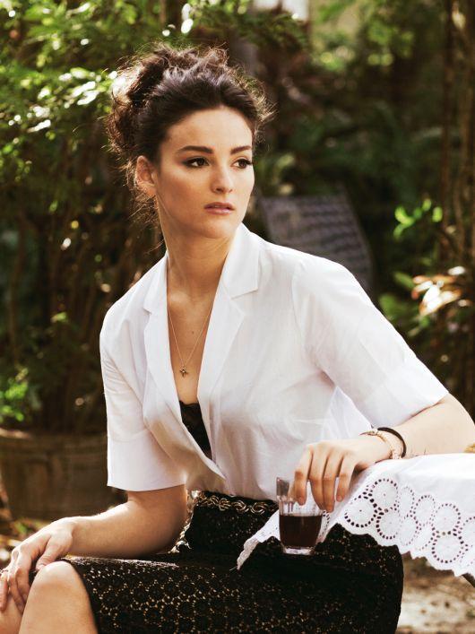 Блуза-сорочка прямого крою з короткими рукавами