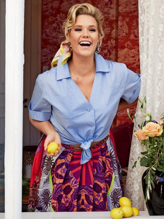 Блузка сорочкового крою з короткими рукавами