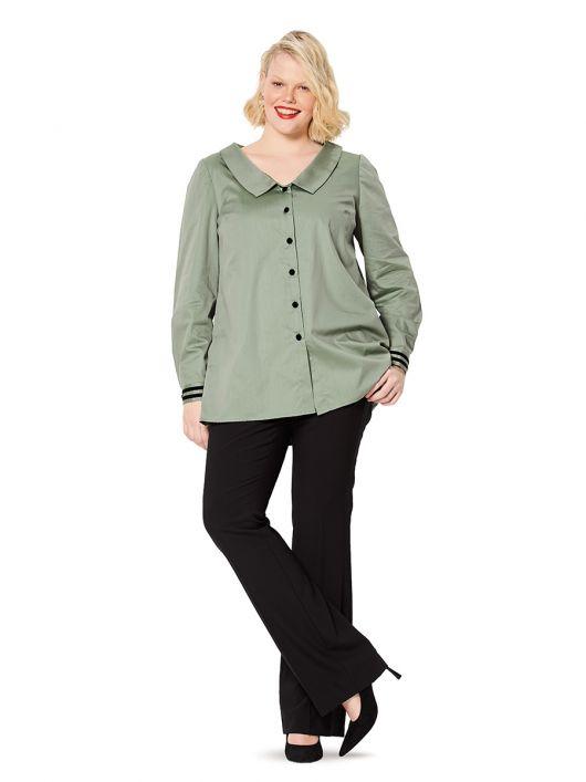 Блуза-сорочка з відкладним коміром