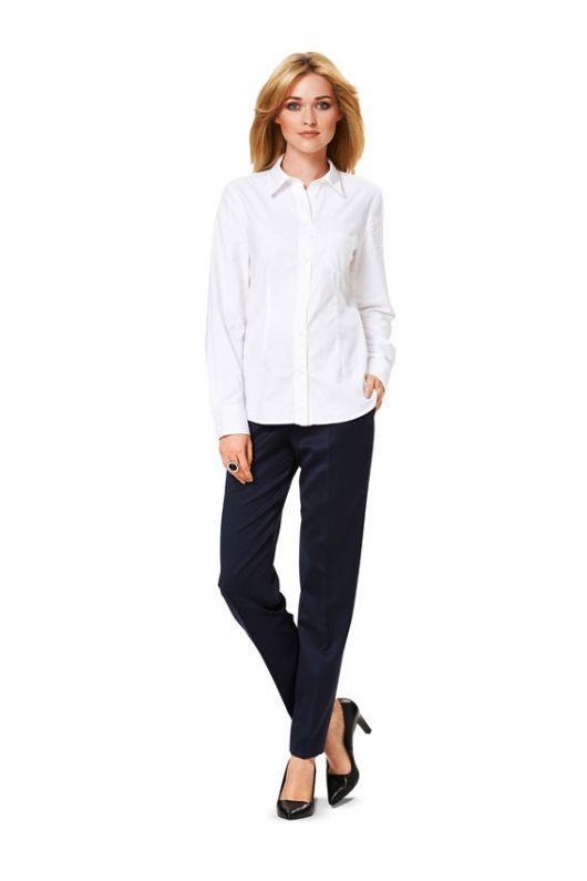 Блуза-сорочка класична приталеного крою